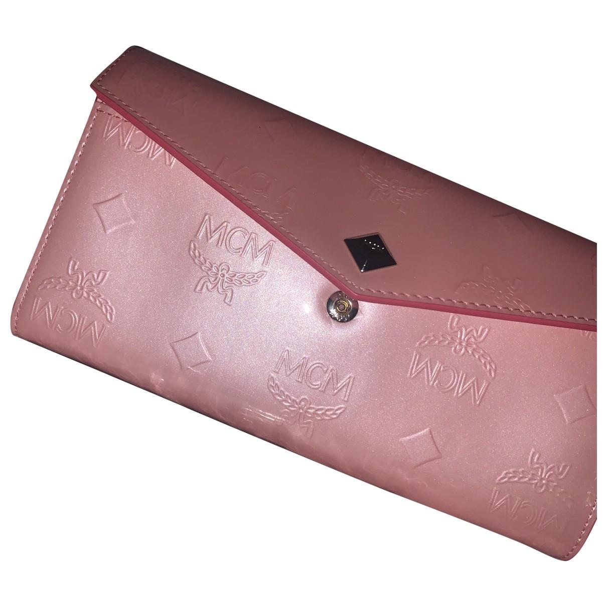 Mcm - Petite maroquinerie   pour femme en cuir - rose