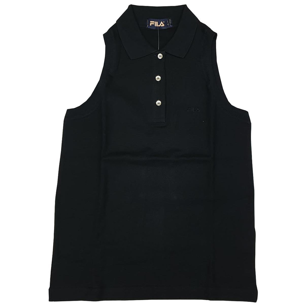 Fila - Top   pour femme en coton - noir