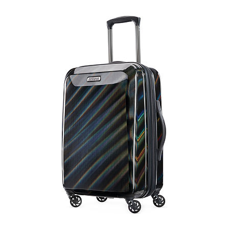 American Tourister Moonlight 21 Inch Hardside Lightweight Luggage, One Size , Black
