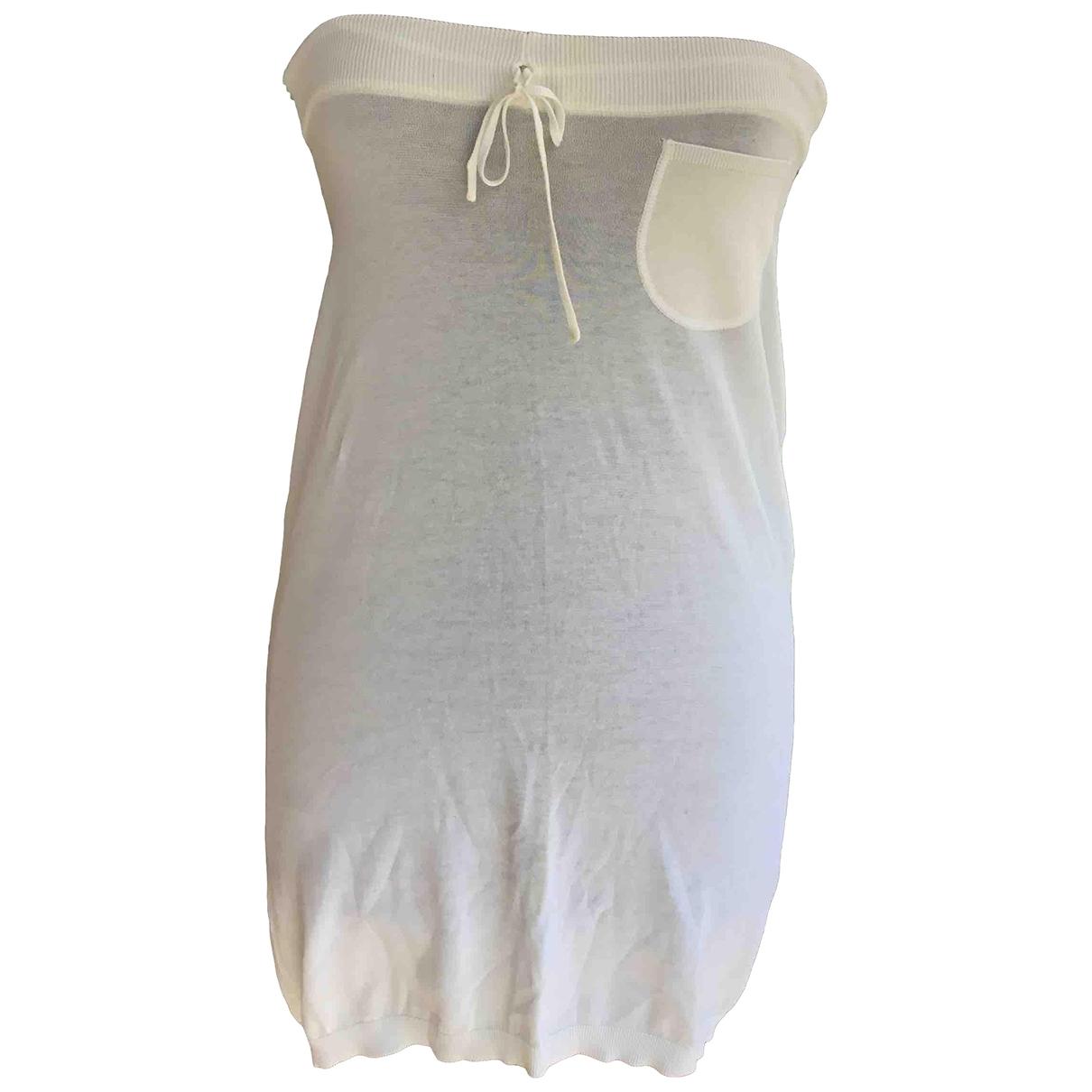 Malo \N Kleid in  Weiss Baumwolle