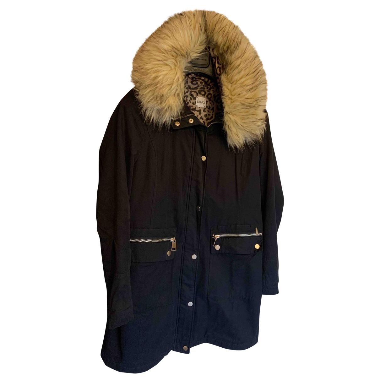 Liu.jo \N Black Cotton coat for Women 44 IT