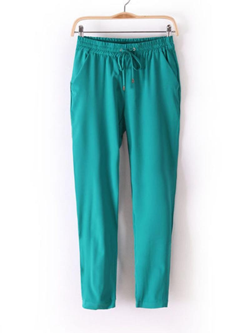 Ericdress Solid Color Pencil Plain Pants