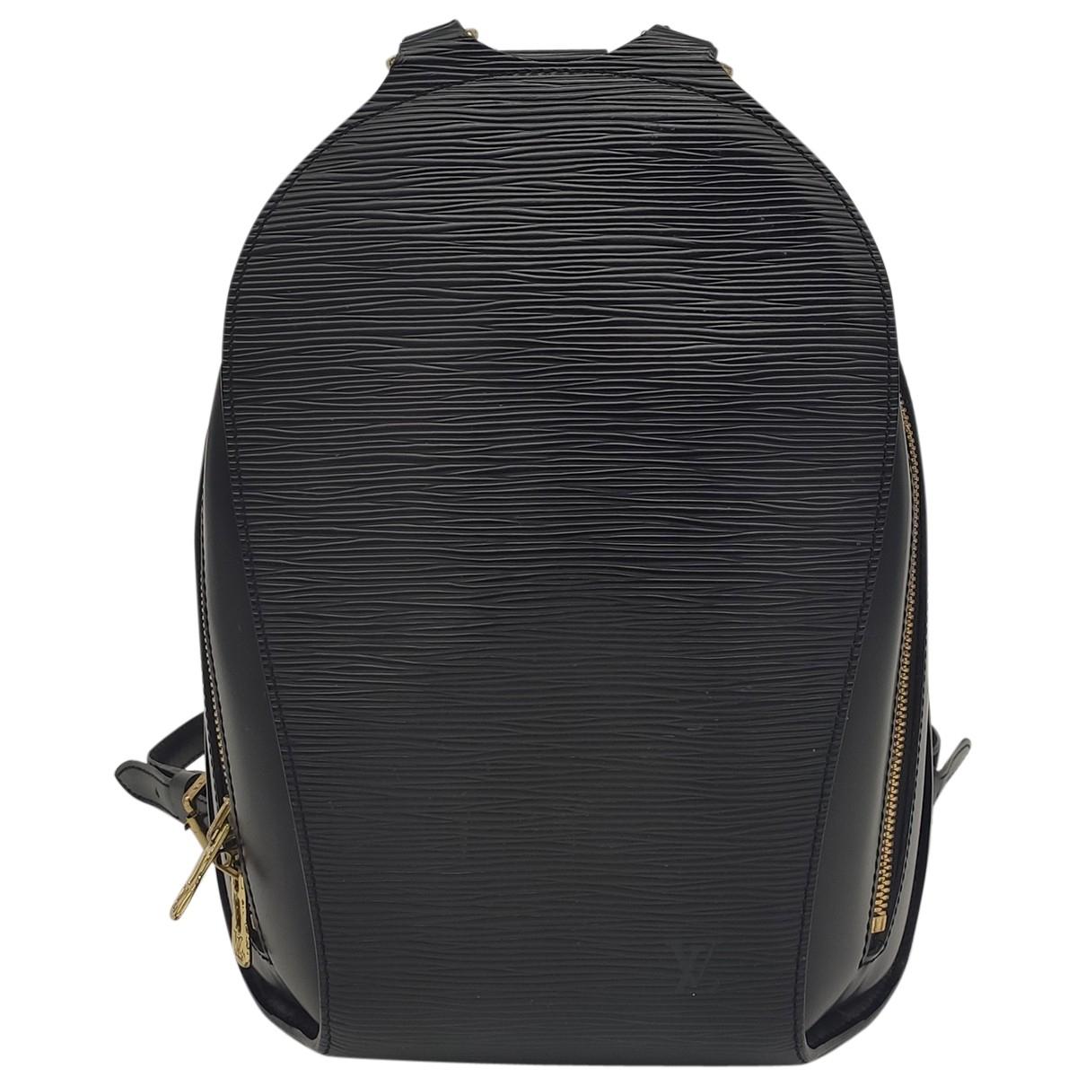 Louis Vuitton - Sac a dos Mabillon pour femme en cuir - noir