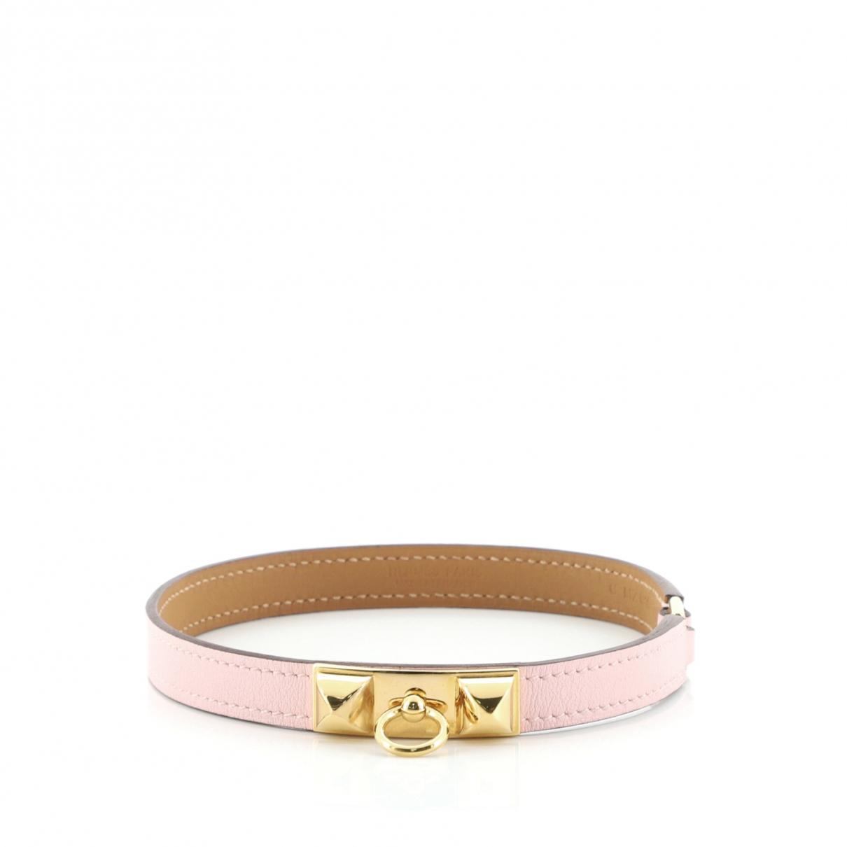 Hermes \N Armband in  Rosa Leder