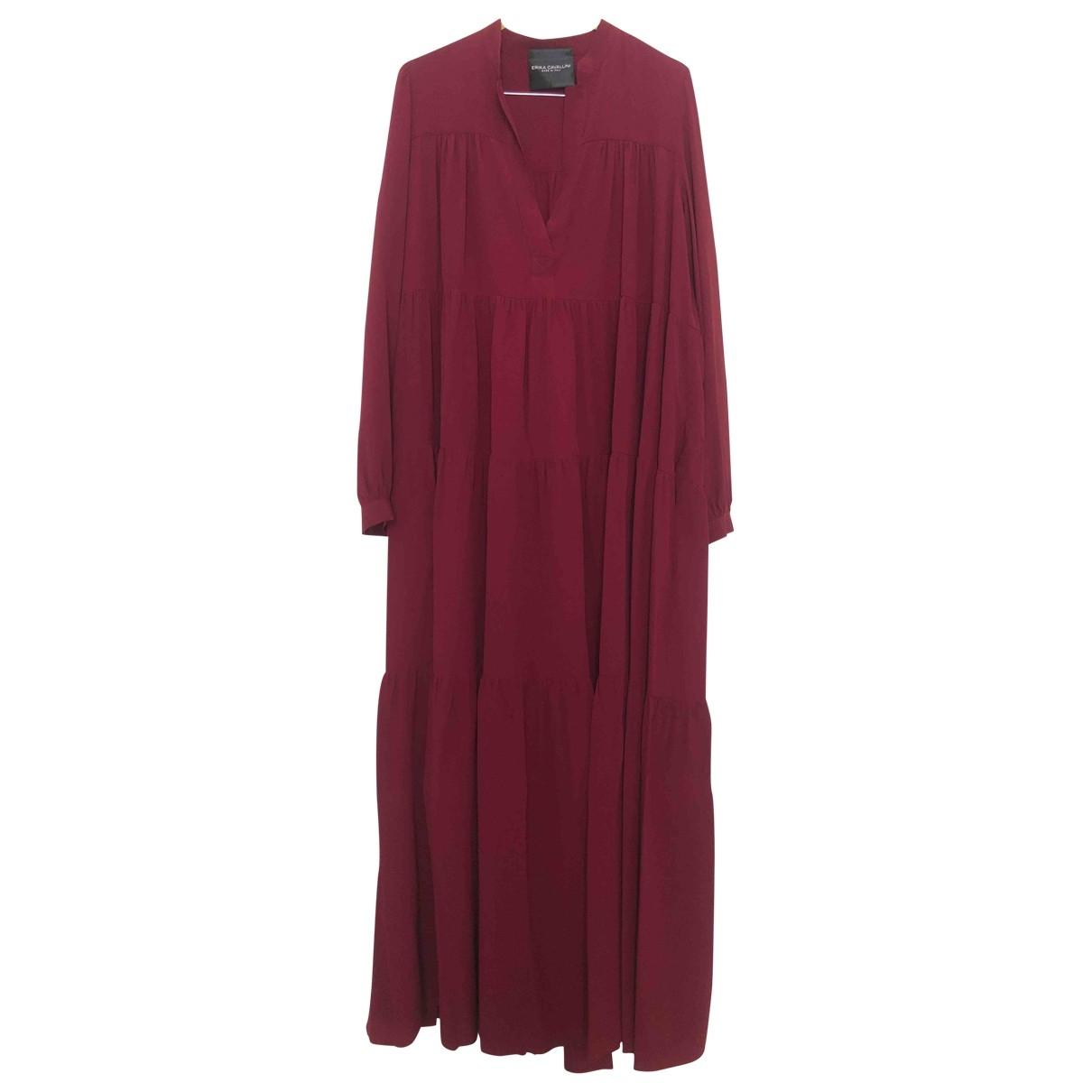 Erika Cavallini \N Burgundy Silk dress for Women 40 IT