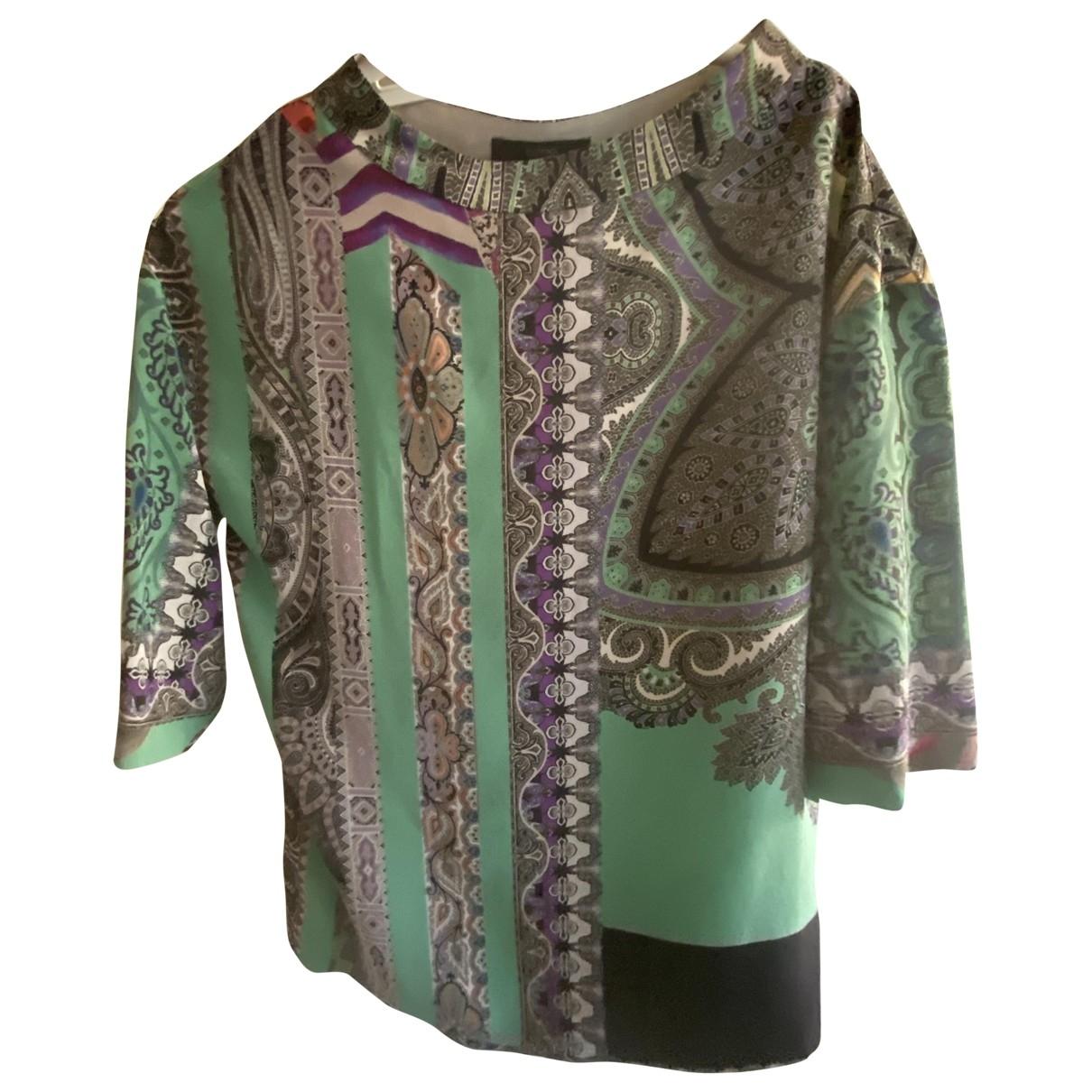 Etro \N Green Silk  top for Women 40 IT