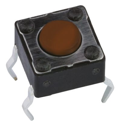 APEM Brown Button Tactile Switch, Single Pole Single Throw (SPST) 50 mA @ 12 V dc 0.8mm (20)