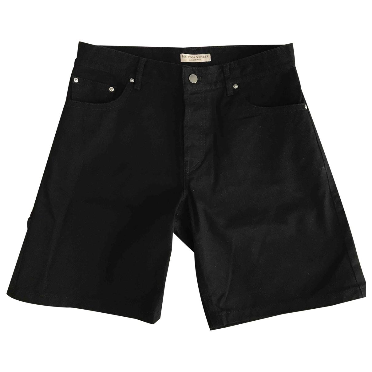 Bottega Veneta \N Black Denim - Jeans Shorts for Men 46 IT