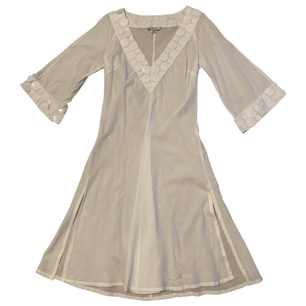 Zara \N White Cotton dress for Women M International