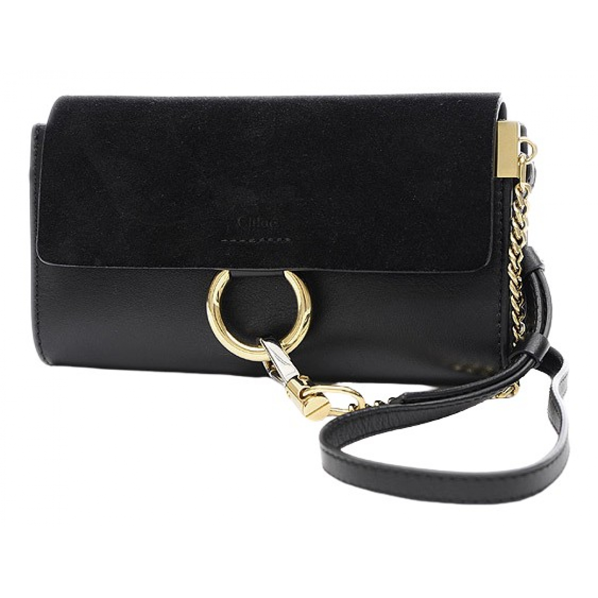 Chloé Faye Black Leather Clutch bag for Women \N
