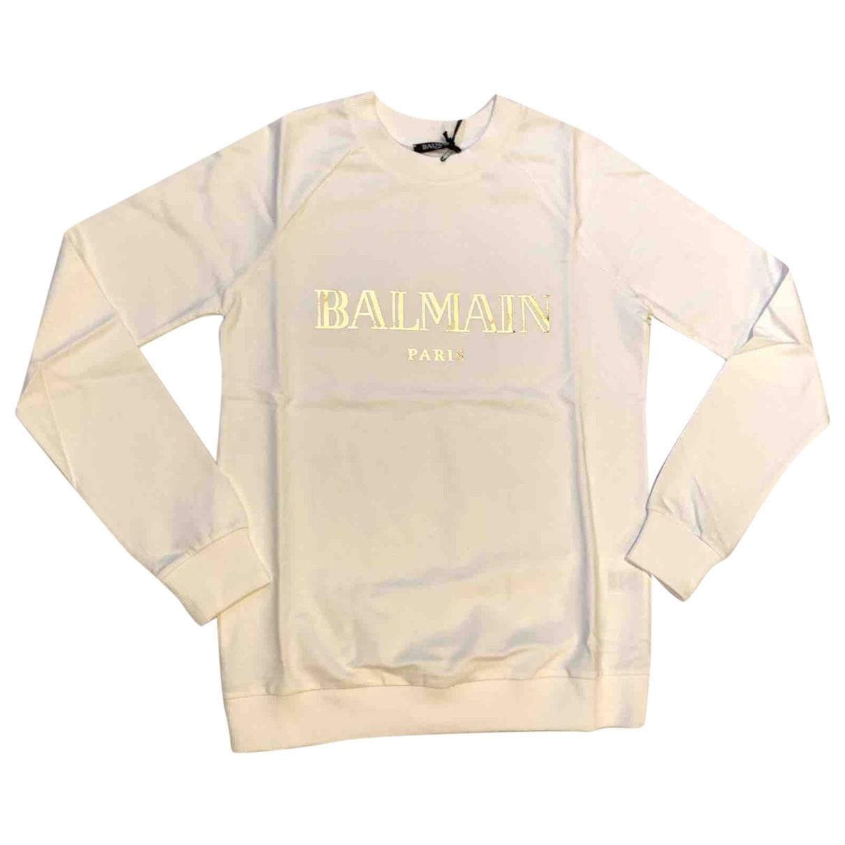 Balmain \N White Cotton Knitwear for Women 40 FR