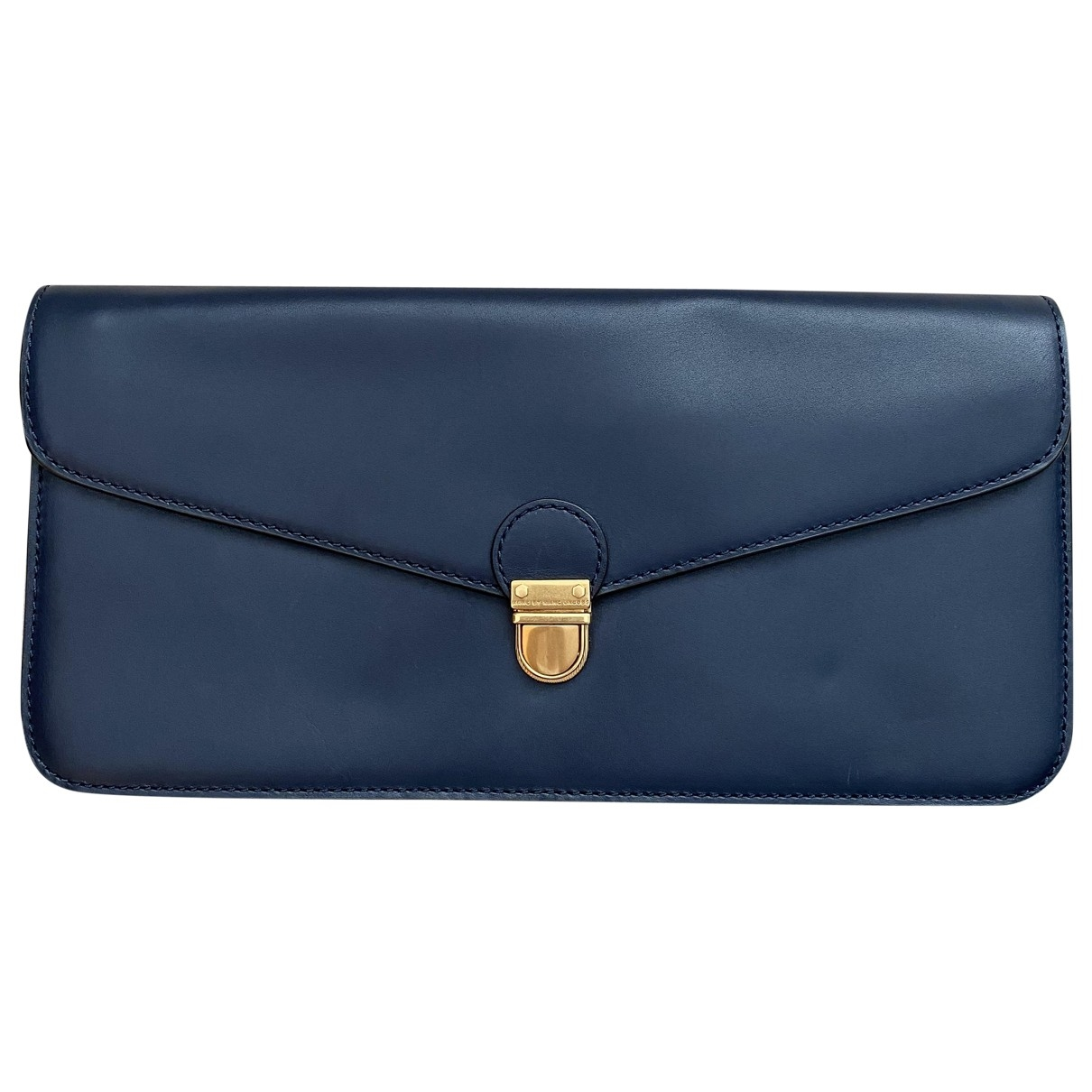 Marc By Marc Jacobs \N Clutch in  Marine Leder