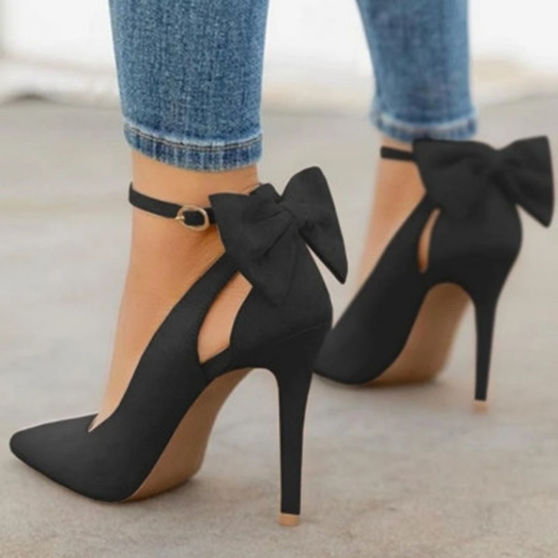 Ericdress Pointed Toe Buckle Stiletto Heel Ultra-High Heel(≥8cm) Thin Shoes