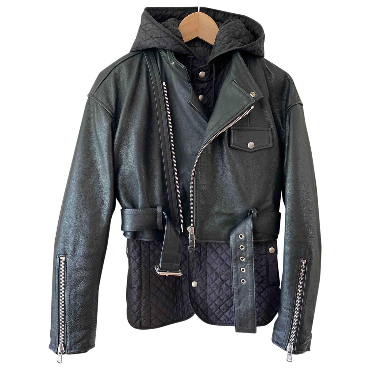 Diesel Black Gold - Blouson   pour femme en cuir - noir