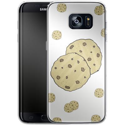 Samsung Galaxy S7 Edge Silikon Handyhuelle - Cookies von caseable Designs