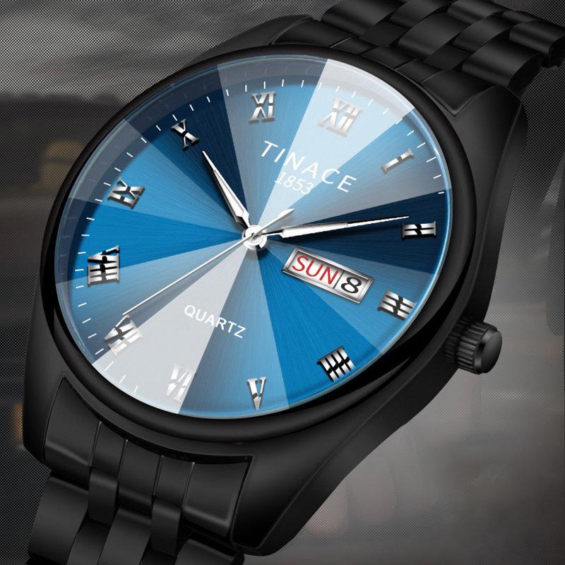 Business Style Luminous Quartz Watch Waterproof Men Waist Watch Simple Style Watch