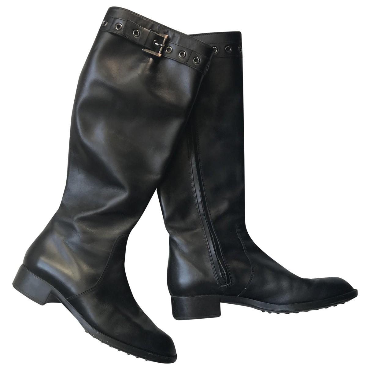 Tods - Bottes   pour femme en cuir - noir