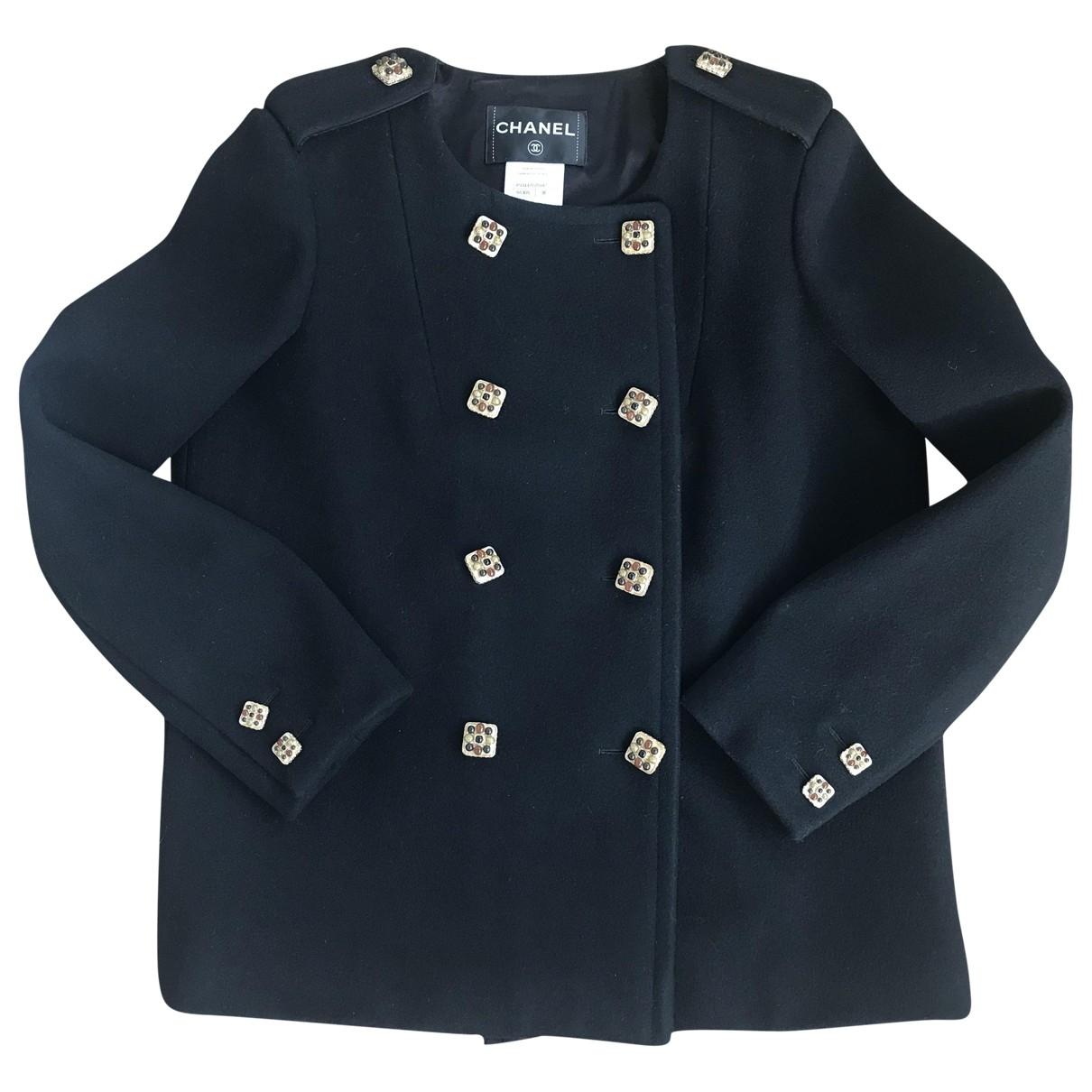 Chanel \N Black Wool coat for Women 38 FR