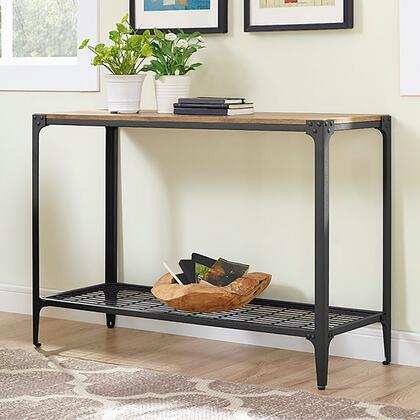 C44AIETBW Angle Iron Rustic Wood Sofa Entry Table -