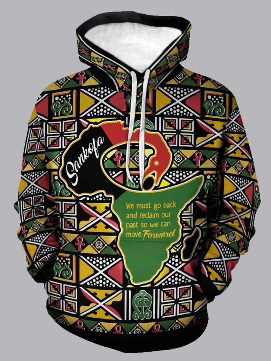 LW Lovely CasualHooded Collar Print Multicolor Hoodie