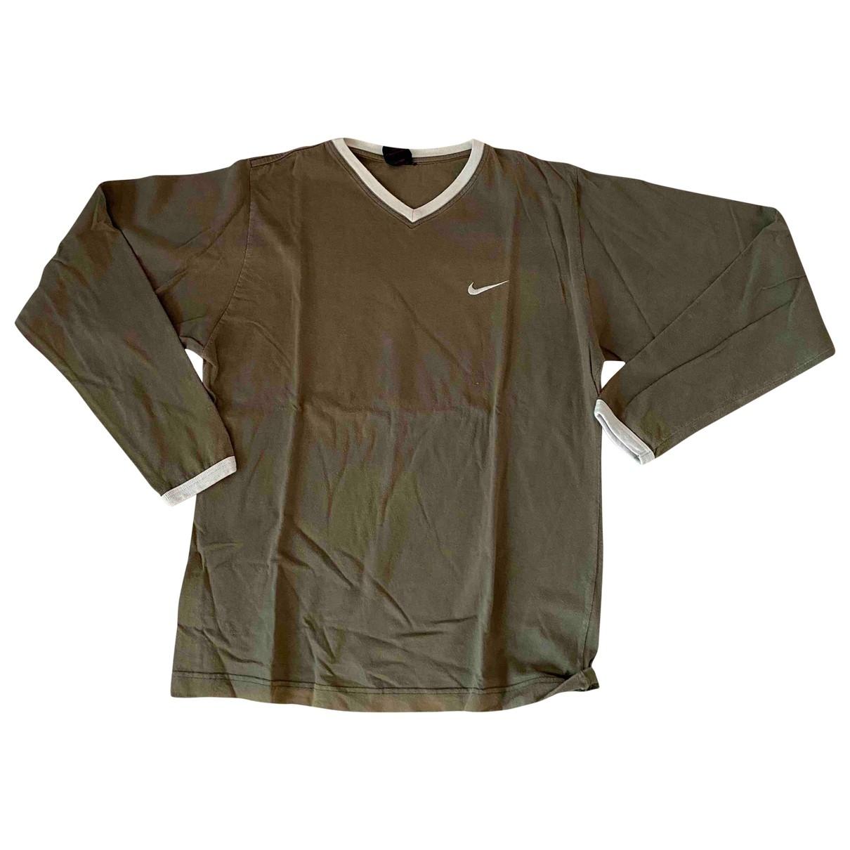 Nike - Top   pour femme en coton - vert