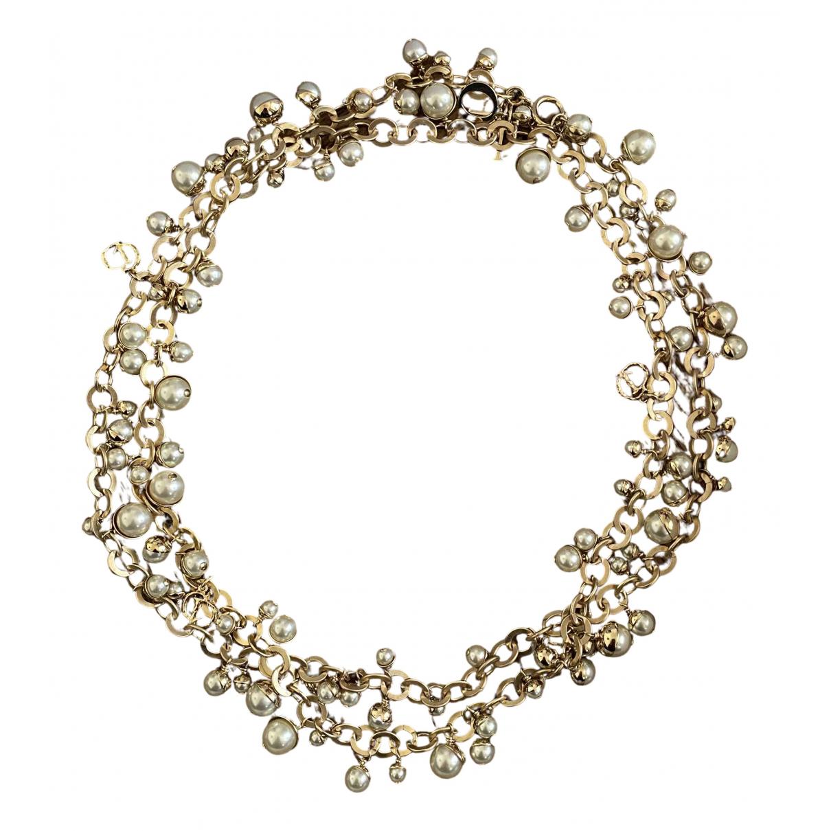 Dior - Collier   pour femme en perles - dore