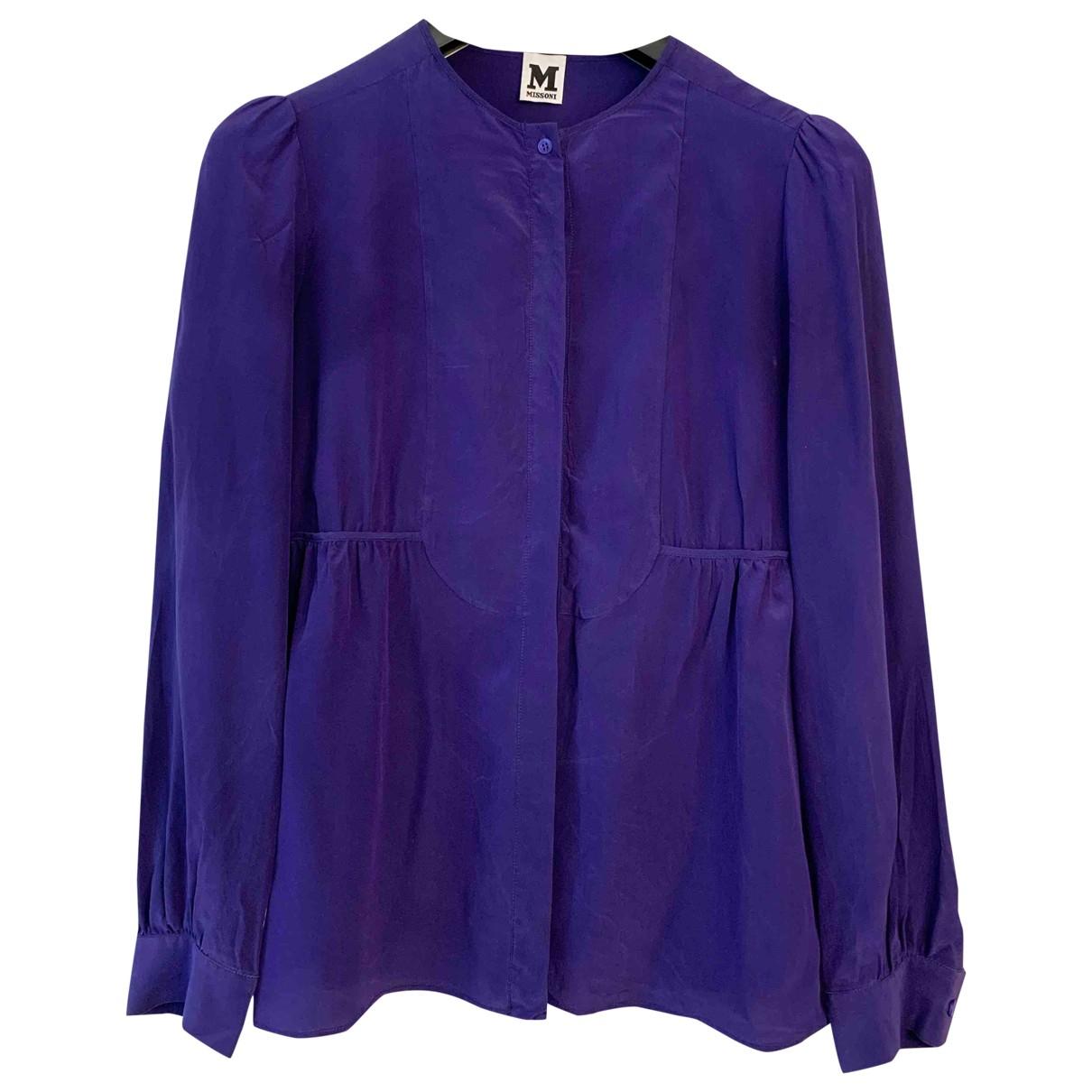 M Missoni - Top   pour femme en soie - violet
