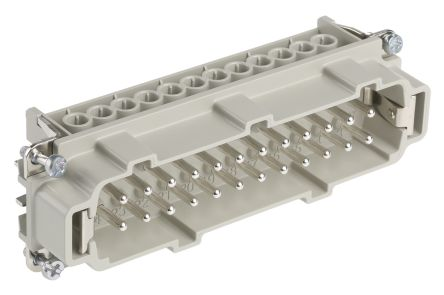 Epic Contact H-BE Series Cable Mount Connector Insert, Male, 24 Way, 16A, 600 V
