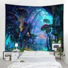 Mushroom Print Tapestry