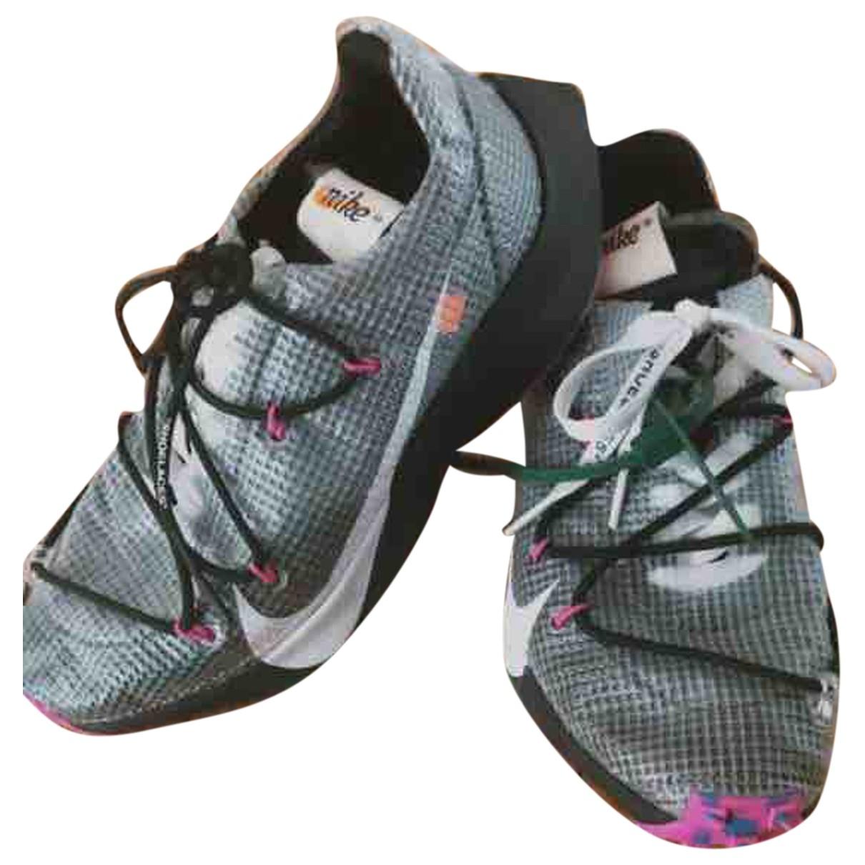 Nike X Off-white - Baskets Vapor Street pour femme en cuir - noir