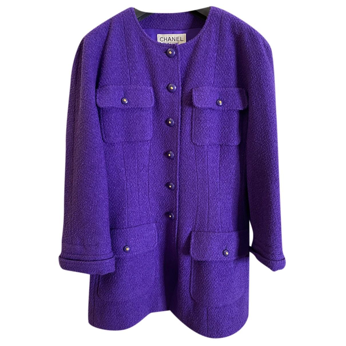 Chanel N Purple Wool jacket for Women 42 FR