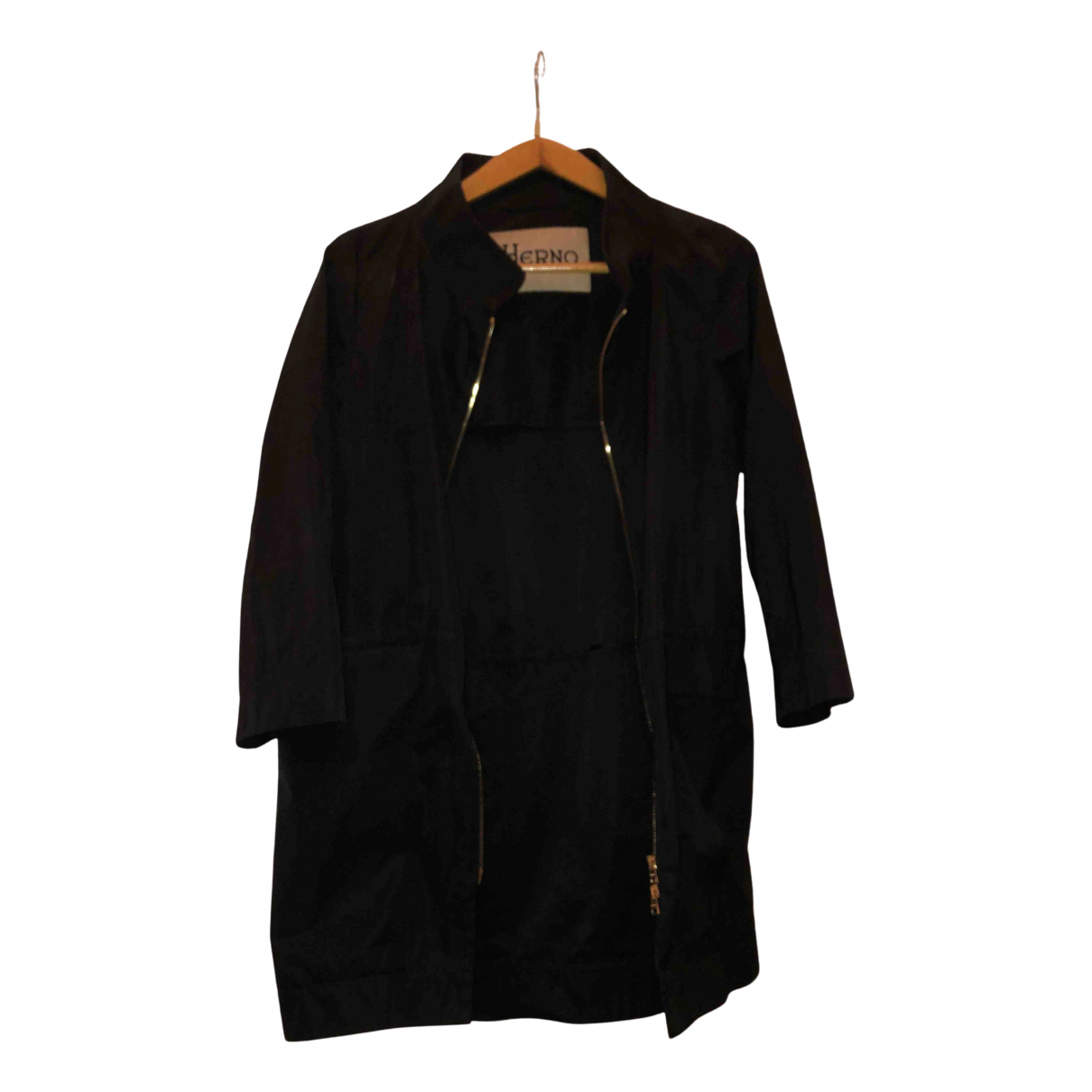 Herno - Trench   pour femme - noir