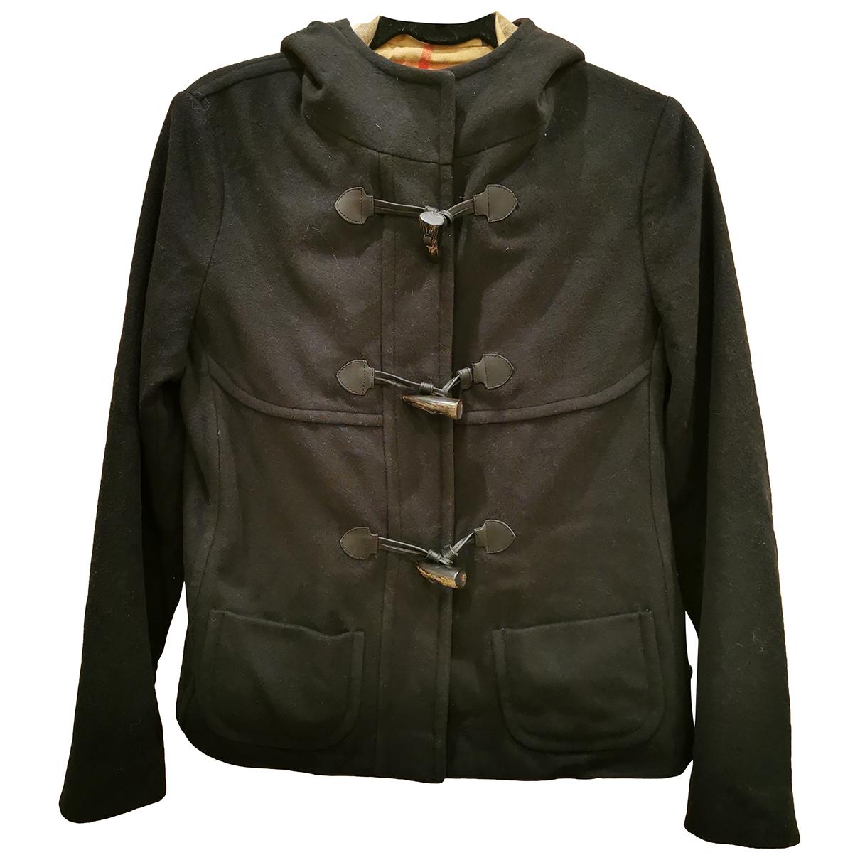 Burberry - Manteau   pour femme en laine - bleu