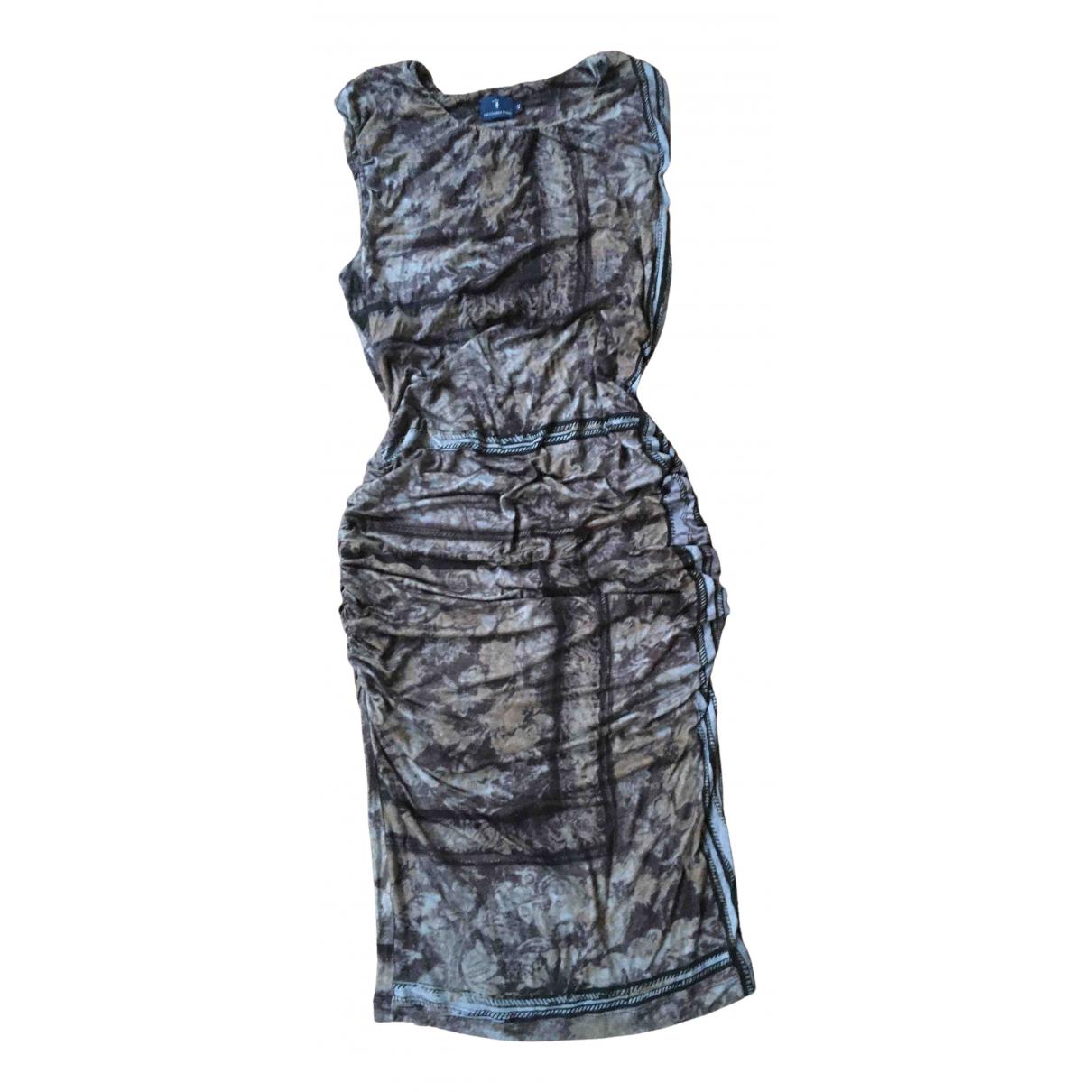 Trussardi Jean - Robe   pour femme en coton - elasthane - anthracite