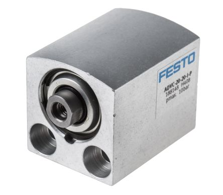 Festo Pneumatic Cylinder 20mm Bore, 20mm Stroke, ADVC Series, Double Acting