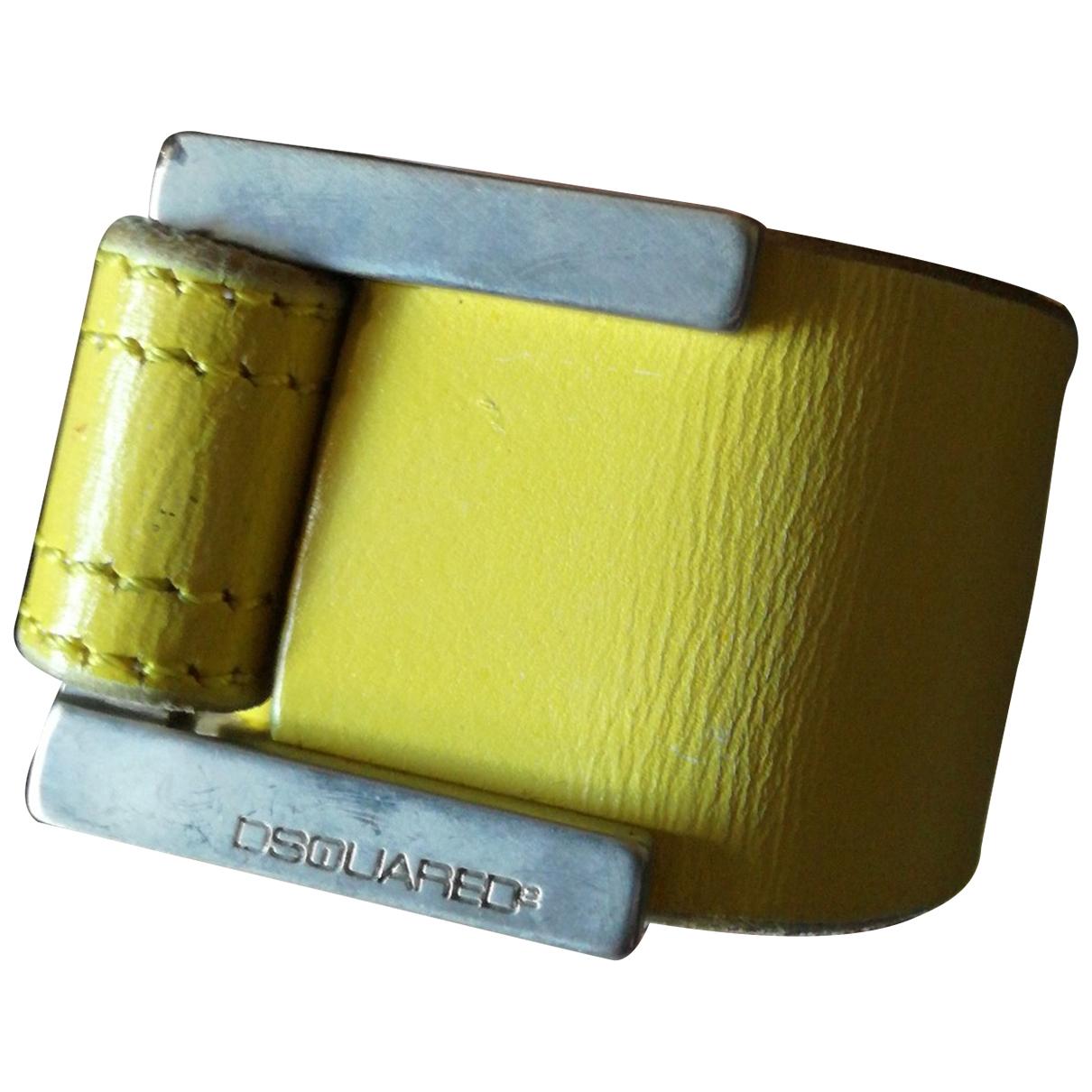 Dsquared2 - Bijoux   pour homme en cuir - jaune