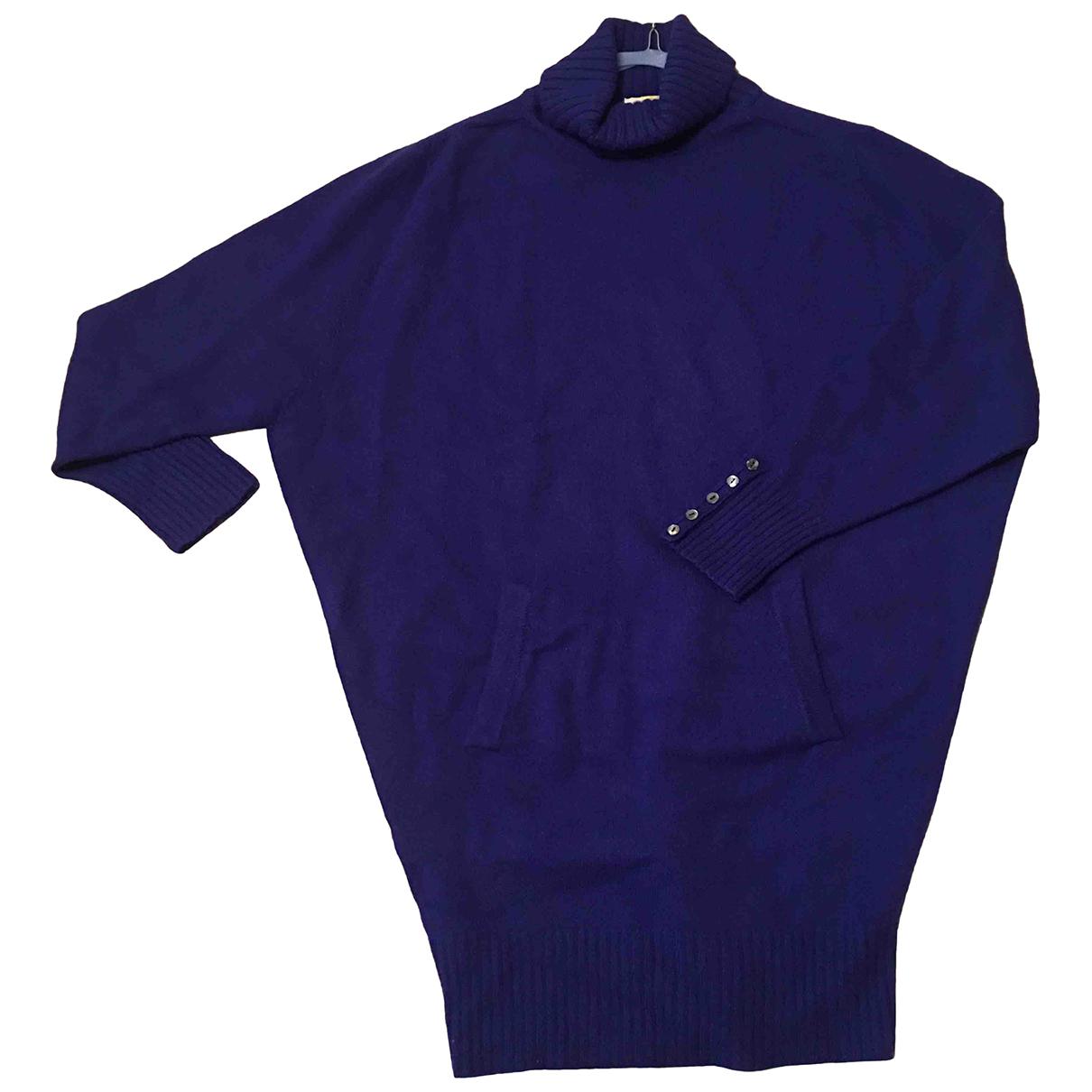 Agnona \N Kleid in  Blau Kaschmir