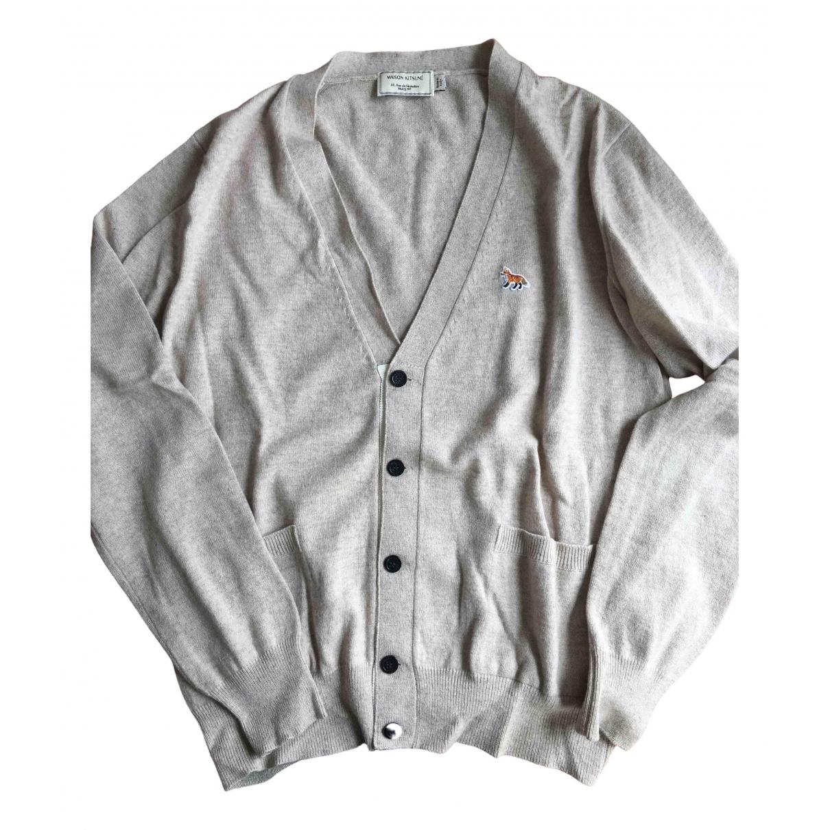 Maison Kitsune \N Pullover.Westen.Sweatshirts  in  Beige Kaschmir