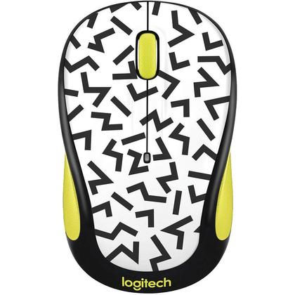 Logitech M325c Wireless Mouse - Yellow Zigzag