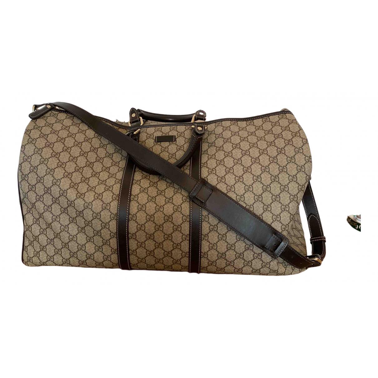 Bolso de viaje Boston de Lona Gucci