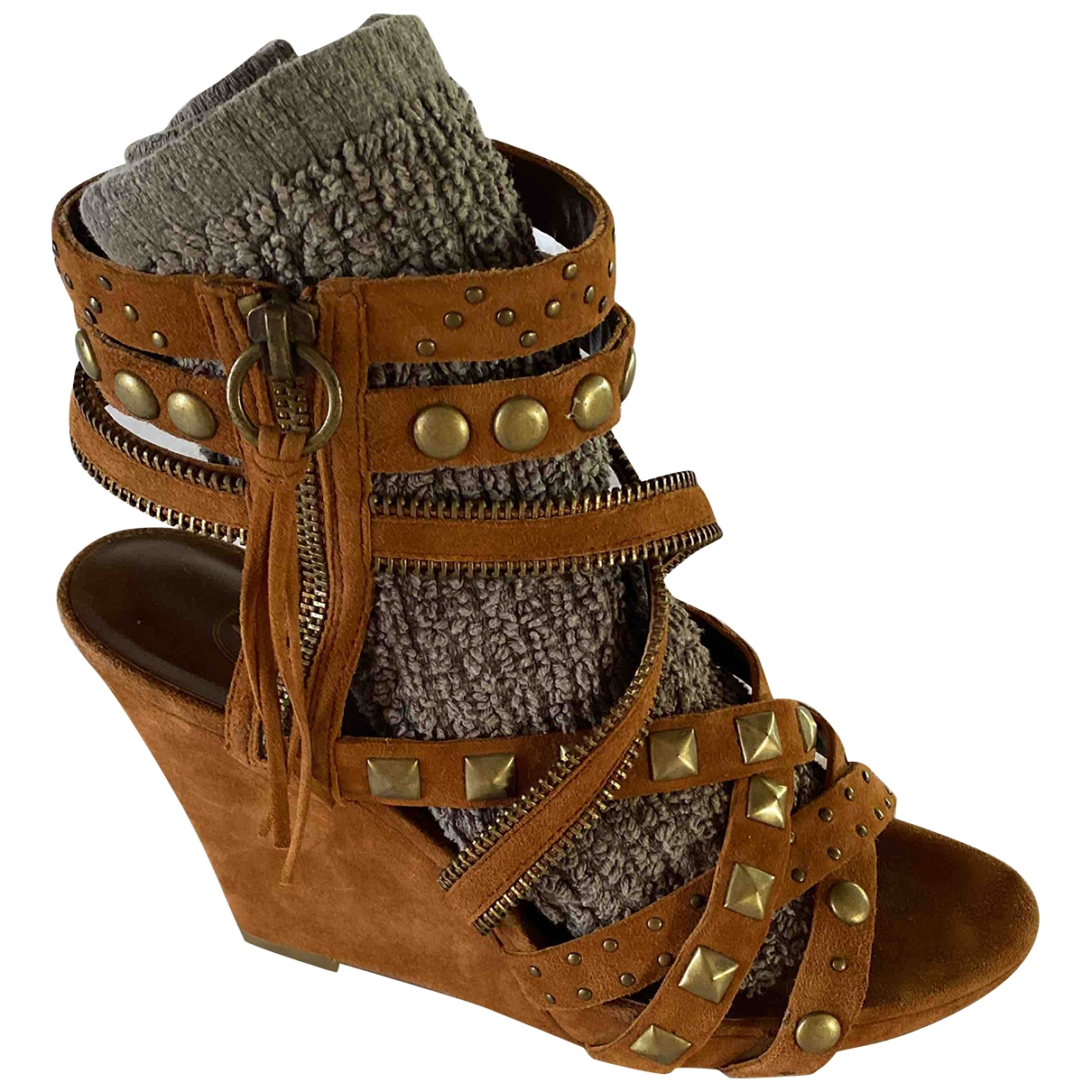 Ash \N Brown Suede Sandals for Women 37 EU