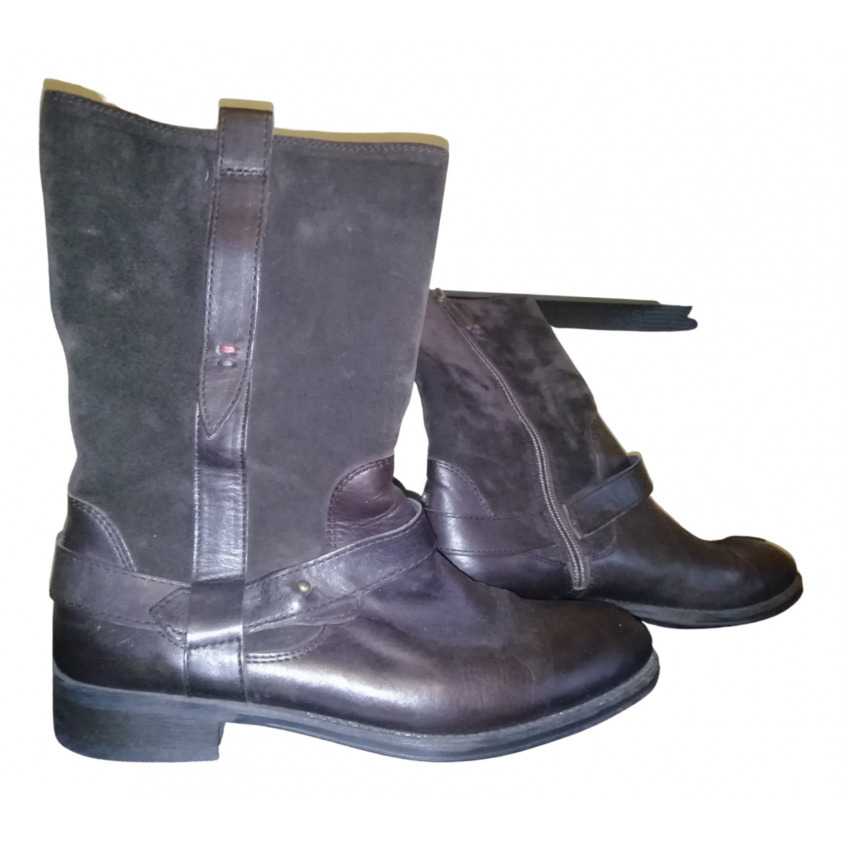 Tommy Hilfiger \N Brown Leather Boots for Women 39 EU