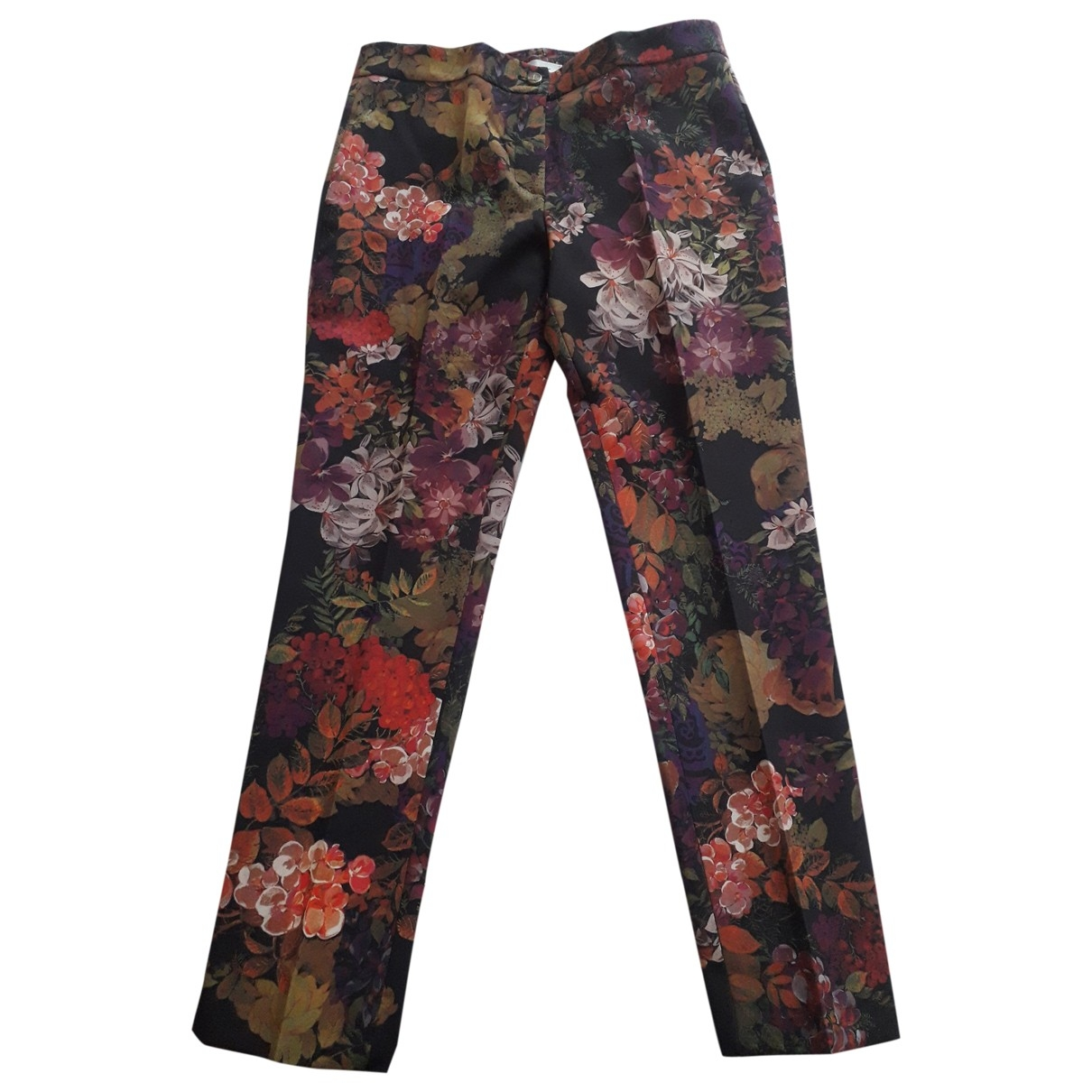 Non Signé / Unsigned \N Purple Trousers for Women 42 IT