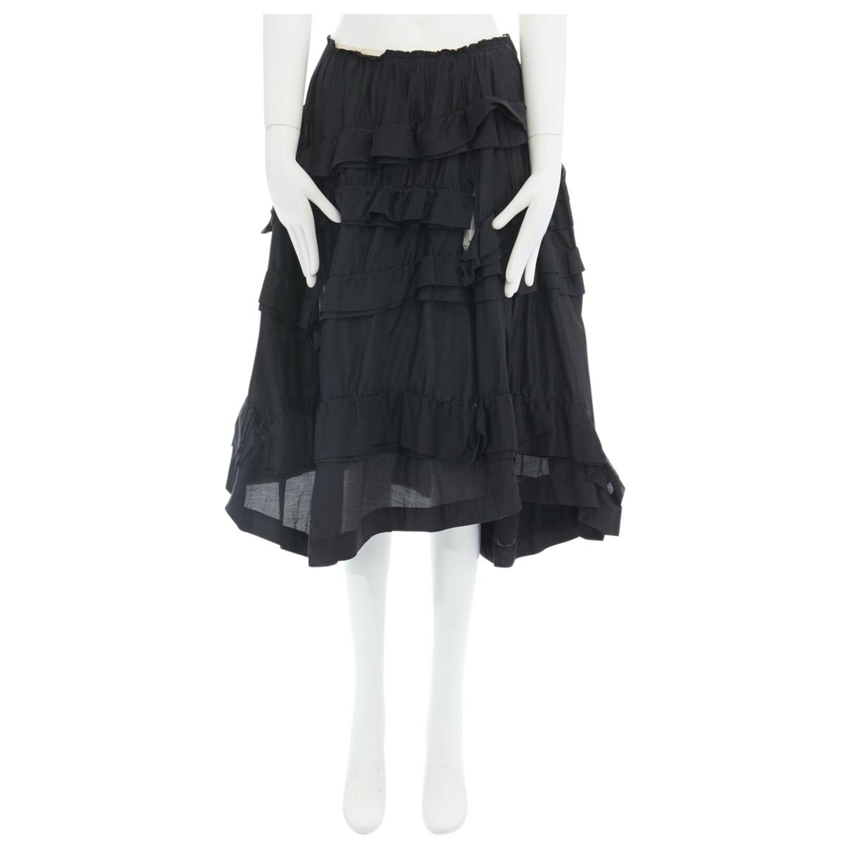 Comme Des Garcons \N Black Silk skirt for Women M International