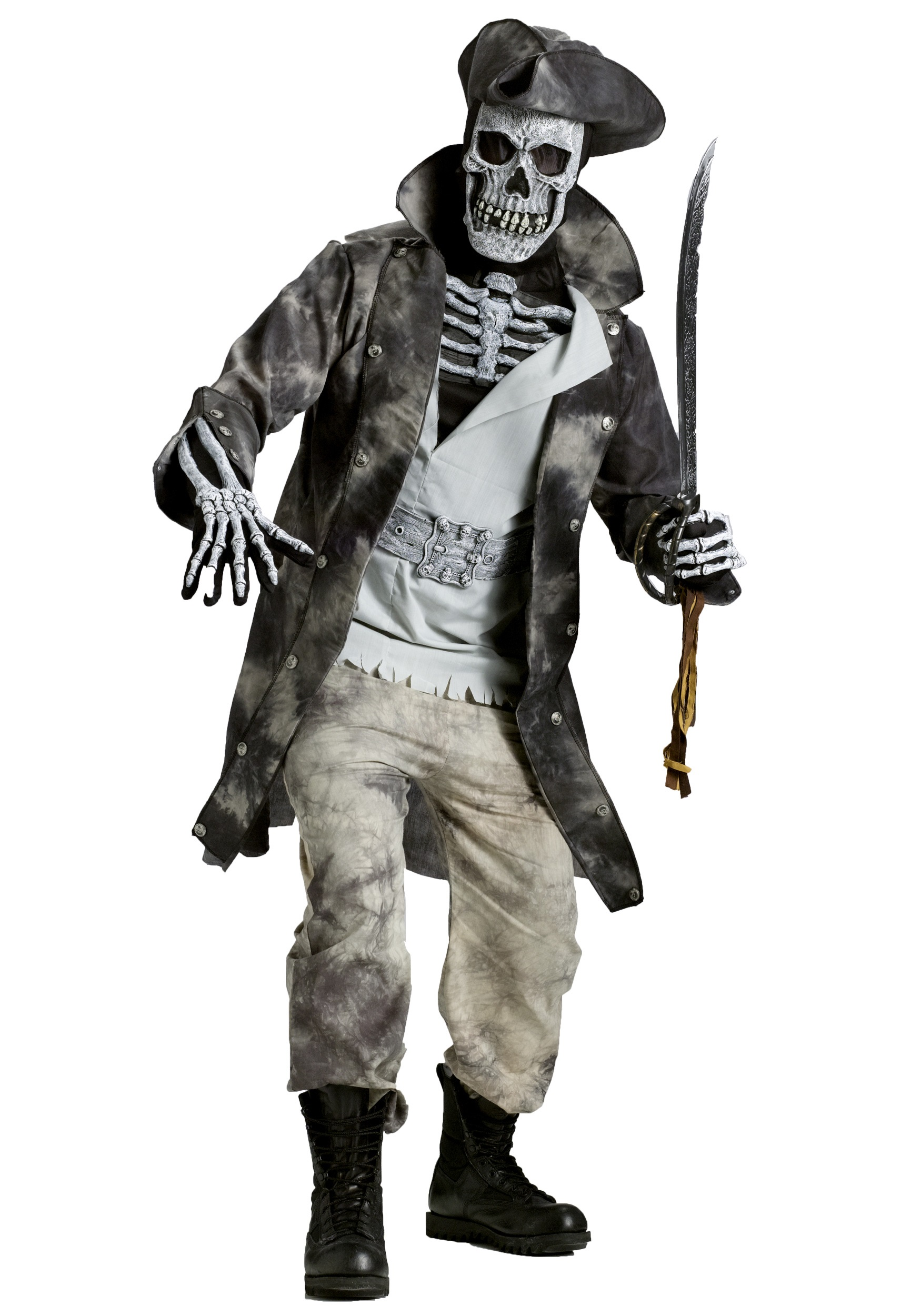 Men's Swashbuckling Ghost Pirate Costume | Ghost Halloween Costume For Adults