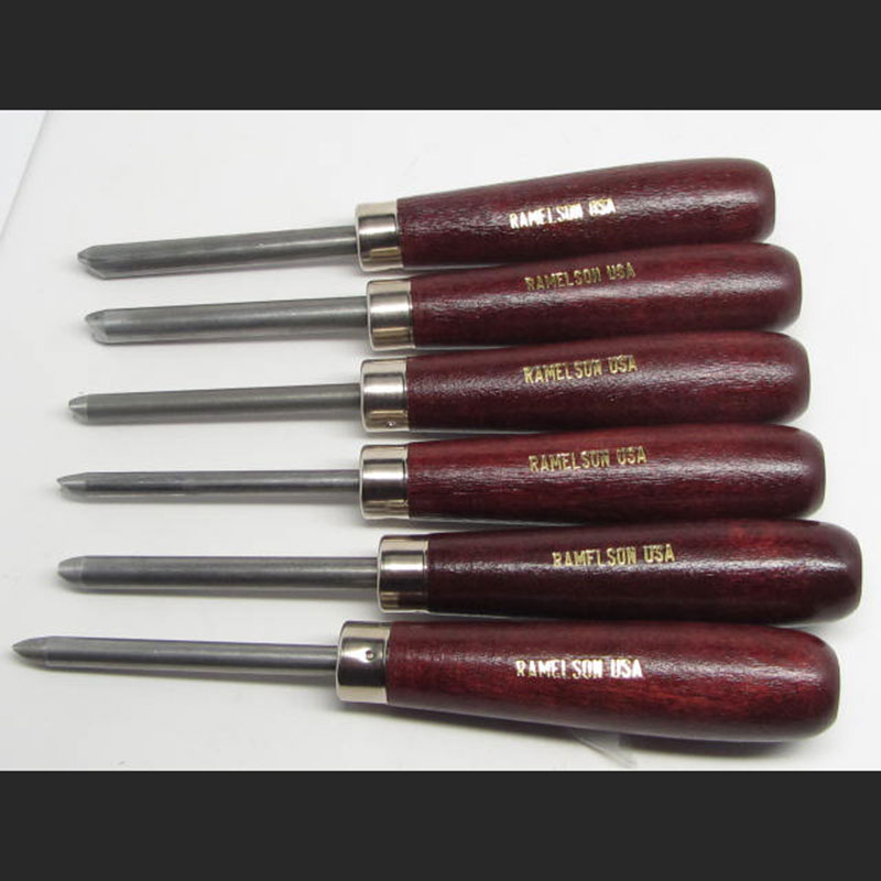 Woodcarving Round Carvers Eye Punch Set of 6