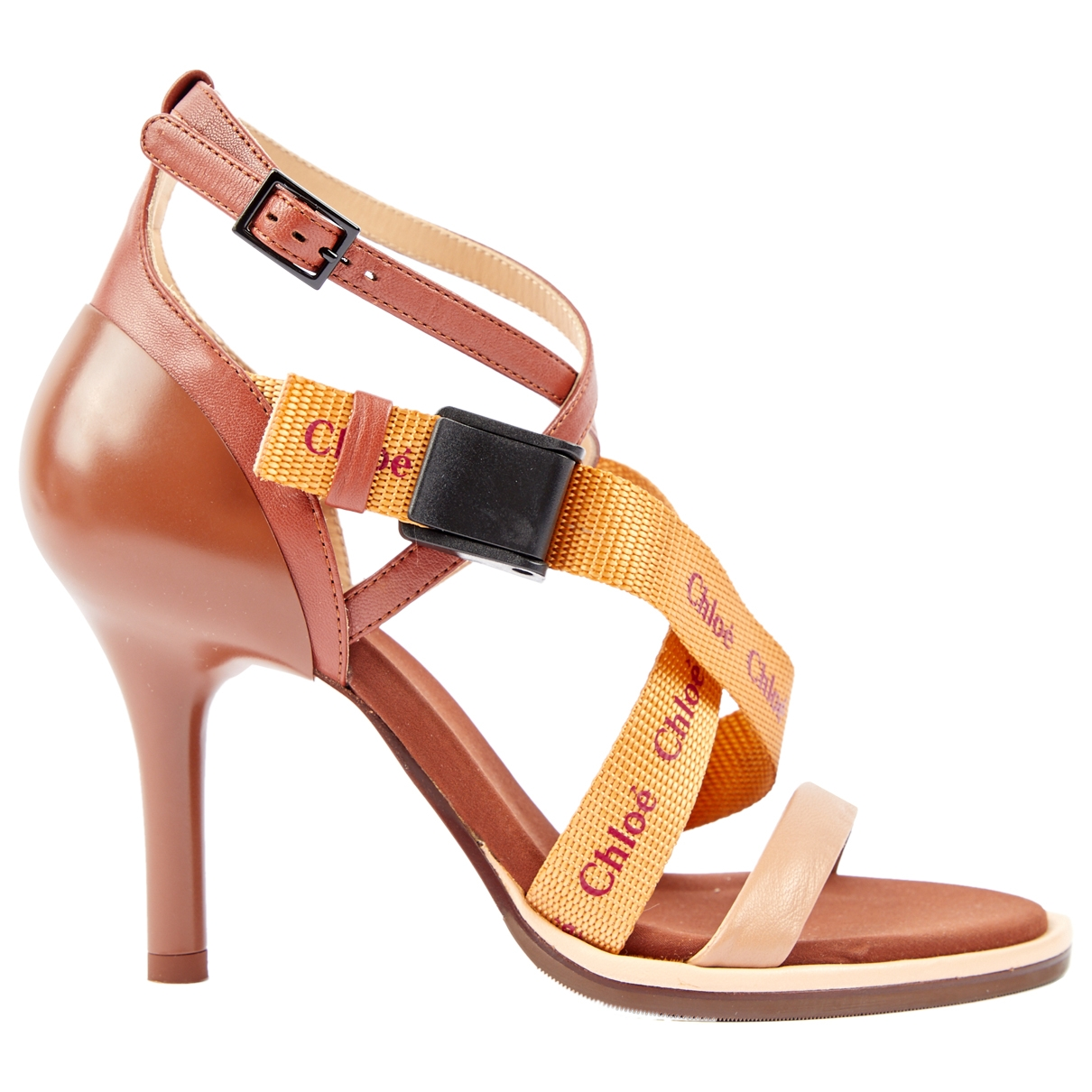 Chloé Veronica Brown Leather Sandals for Women 35 EU
