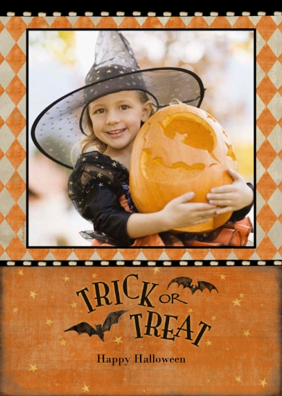 Halloween Photo Cards 5x7 Cards, Standard Cardstock 85lb, Card & Stationery -Trick or Treat