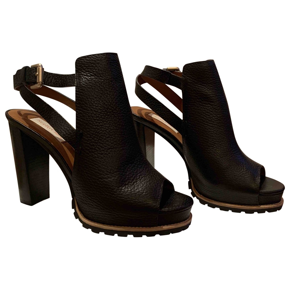 See By Chloé \N Black Leather Mules & Clogs for Women 38 EU