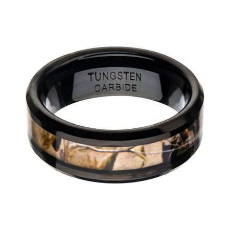 Inox Jewelry Mens 8MM Tungsten Wedding Band, 11 , No Color Family